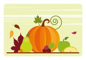 Thanksgiving-Hintergrund-Illustration