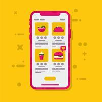 Vektor für Online-Lebensmittelbestellung