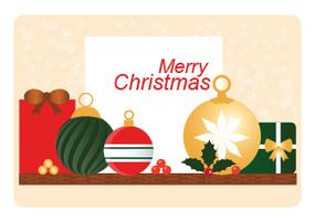 Vektor-Weihnachtsgruß-Karten-Design vektor