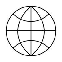 Kugel Browser Grafik isoliert Symbol vektor