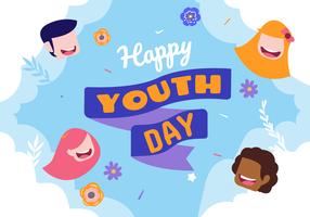 Fira World Youth Day Vector Bakgrunds Illustration