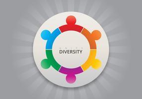 Multikulturella gemenskapens logotyp vektor