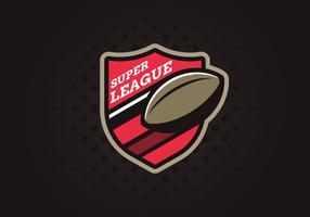 super liga emblem vektor