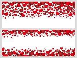 Satz von zwei nahtlosen Hintergründen des Valentinstags, Vektorillustration. vektor