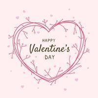 Glad Valentinsdag Ram Hälsnings Vektor