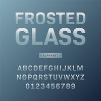 Frostat glas alfabet vektor uppsättning