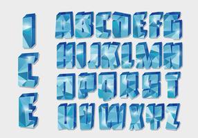 Eisige Alphabet-Vektor
