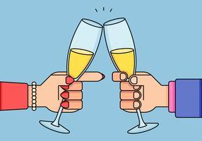Champagner-Toast vektor