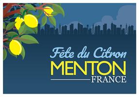 Zitronenfestival-Plakat Menton Frankreich
