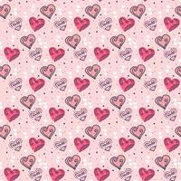 Valentine Hearts Vektormuster vektor