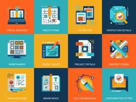 Kreativer Prozess-Icon-Set