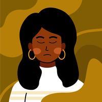 Kvinna Porträtt Illustration