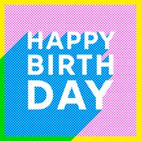 Halbton-alles Gute zum Geburtstagvektor vektor