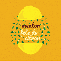 Menton Frankreich Zitrone Festival Banner vektor