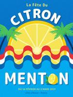 Zitronenfestival-Plakat-Vektor Menton Frankreich