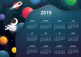 2019 druckbarer Kalender