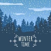 Winterzeit-Vektor-Hintergrund vektor