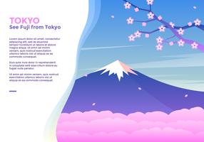 Se Fuji From Tokyo Vector