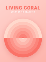 Nyanser av levande korallfärgvektoröverdrag