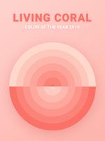 Schatten der lebenden korallenroten Farbvektorabdeckung