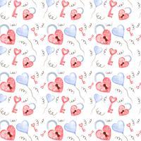 Gullig Alla hjärtans mönster