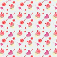 Nettes Valentinsgrußmuster