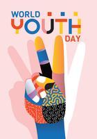 världens ungdomsdag vektor design