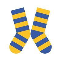 Sockenpaar mit Farben Streifen unten Symbol vektor