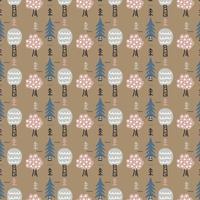 vinter skog vektor mönster