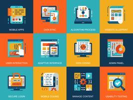 Webutvecklings ikonuppsättning