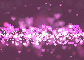 Alla hjärtans dag hjärtan bakgrund vektor