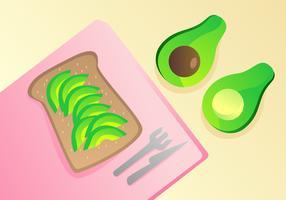 Läckra Avokado Toast Vectors
