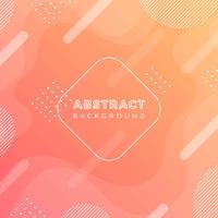 Flacher orange abstrakter vektorhintergrund vektor