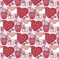 Vector Valentine's Day Seamless Pattern