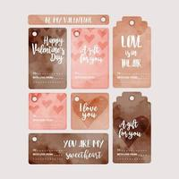 Vector Valentine's Day Gift Tags
