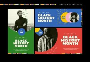 Black History Month Event Banner Vector