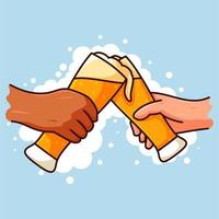 guys drinking beer vektor