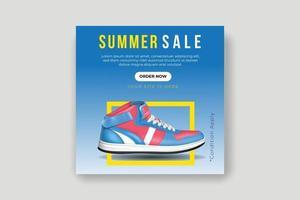Sport Mode Schuhe Marke Produkt Social Media Banner Post Vorlage vektor