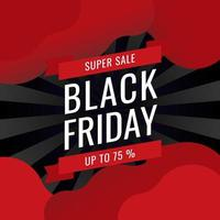 Black Friday Banner Sale Inscription Best Design Template