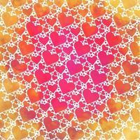 Vector Watercolor Hearts Background
