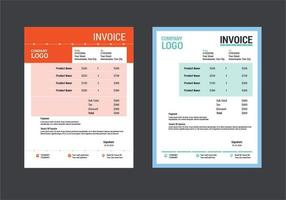 Custom Invoice Template Layout Design