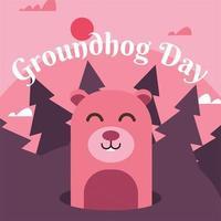 Groundhog Day Vector Design
