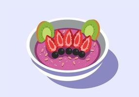 Color Acai Bowl vektor