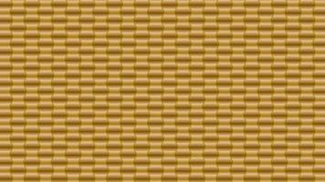 3D goldener sechseckiger Wabenmusterhintergrund vektor