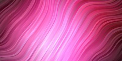 dunkelrosa Vektormuster mit trockenen Linien. helle Abbildung mit Steigungskreisbögen. Muster für Geschäftsbroschüren, Broschüren vektor