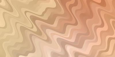 hellorangefarbener Vektorhintergrund mit Kreisbogen. bunte Illustration mit geschwungenen Linien. Design für Ihre Unternehmenswerbung. vektor