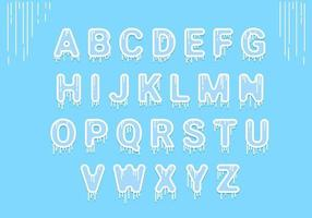 Icy Alphabet vektor