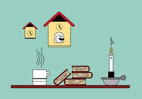 Books and Cuckoo Clock