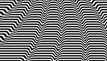 Schwarz-Weiß-Hintergrund mit optischer Täuschung vektor