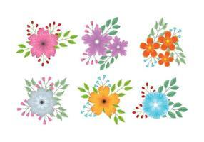 Flower clipart set  vektor